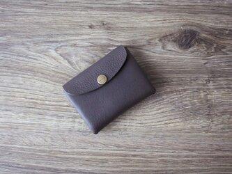 イタリア製牛革のコンパクト財布 S / グレー※受注製作の画像