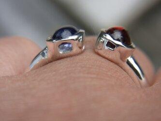 トルマリンとガーネットの指輪の画像