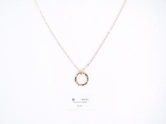 【14kgf】月ネックレス / 槌目 / mini(40cm)ゴールド チェーン 華奢 シンプルの画像