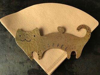 コーヒーフィルターホルダー猫と豆の画像