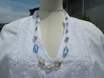 ベネチアン風ガラスのネックレス(送料無料)の画像