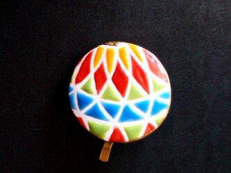 鮮やかな和の鞠のポニーフック スペインタイルの画像