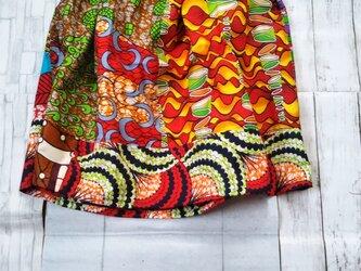 アフリカ布でトップスの画像