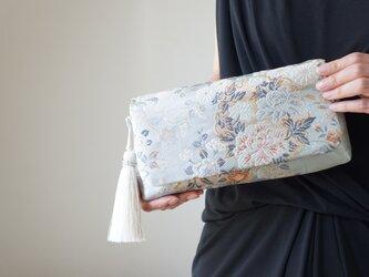 【シルク帯 2wayクラッチバッグ& ハンドバック】結婚式、パーティー、日常使いに。帯リメイク 帯バッグの画像