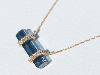 """One of a Kind""◇K18YG×Tourmaline Diamond 0.06ct Necklaceの画像"