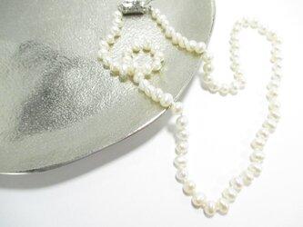 【淡水真珠 ネックレス ホワイト】の画像