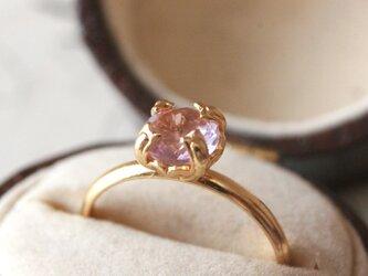 6mm大粒*宝石質天然石リング アメジストの画像