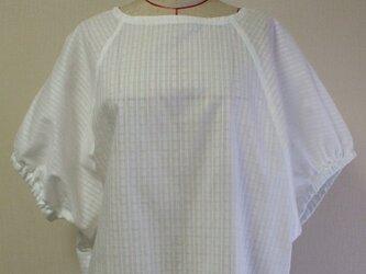 ラウンドネック ラグラン切替え5丈袖プルオーバー M~LLサイズ 白 受注生産一週間待ちの画像