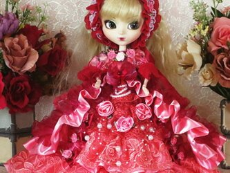 スウィートコーラルの薔薇 プリティープリンセス オーバーフリルドールドレスの画像