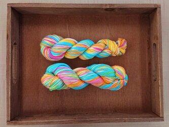 インダスからの贈り物(オリジナルの段染め糸)③2本セットの画像
