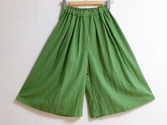 【ゆったりサイズ】cottonリネンのスカーチョの画像