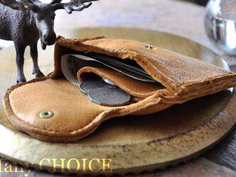 やみつきエルクのミニマム財布(黄茶)の画像
