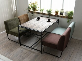 Industrial Dining Low Tableの画像