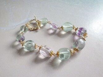 ☆再販☆mermaid 's rainbow bracelet/フローライトの画像
