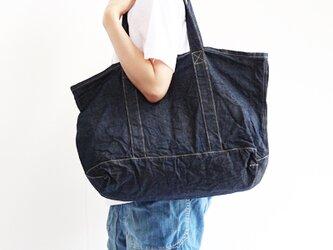児島デニムの洗いざらしトートバッグの画像