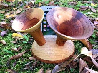 iphone スピーカースタンド ホルン型の画像