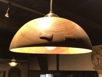 ハリエンジュのペンダントライト ボール型の画像