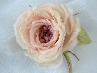 シルクデシンの薔薇 クラシック ピンク * コサージュ 髪飾りの画像