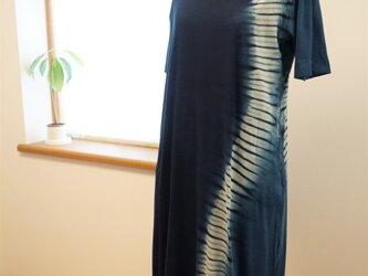 藍染 Tシャツワンピース ゆらぎの画像