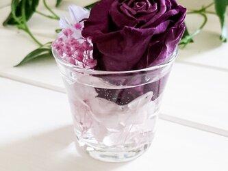☆グラスハーバリウム 紫系①☆の画像