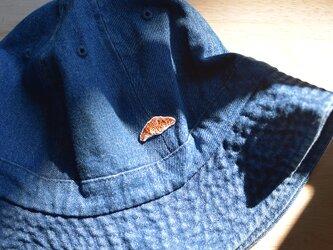 メトロハット【デニム】クロワッサン刺繍付きの画像