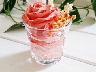 ☆グラスハーバリウム ピンク系①☆の画像