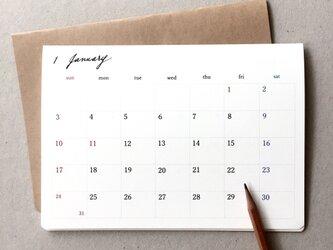 カレンダーA*卓上・壁掛け 何月からでも 月曜日始まりもOKの画像