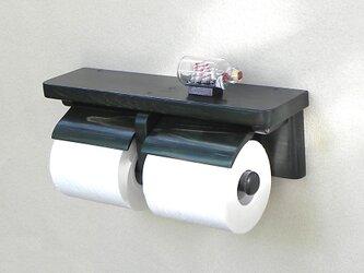木製トイレットペーパーホルダー Ver.13(ダークグリーン)の画像