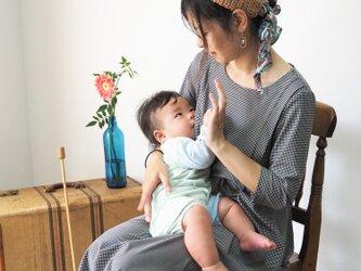 【XS-LL受注制作】授乳用◇アーミッシュ風シンプルワンピース(好きな布地を選べます)の画像