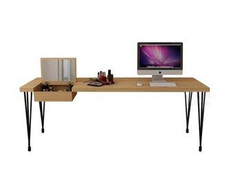 オーダーメイド 職人手作り ドレッサー 化粧台 北欧モダン インダストリアル アイアンウッド テーブル サイズオーダー可の画像
