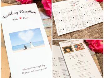 結婚式 ペーパーアイテム ♡ プロフィールブック 座席表 メニュー表 挨拶文 席次表の画像