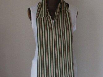 アンティーク着物から縞縮緬のストール 絹の画像