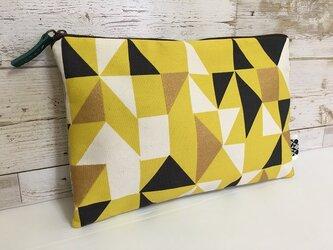 バッグインバッグ クラッチバッグ 黄色い幾何模様5の画像