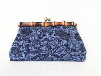 本藍 流水花文 クラッチバッグの画像
