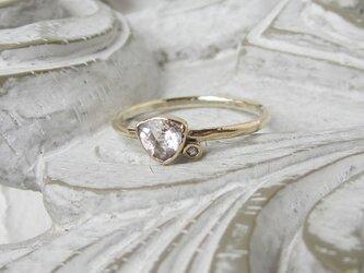 再販:モルガナイト&ダイヤモンド・リング(k10)(売約済)の画像