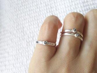 ピンキーリング ラフダイヤモンド フリーサイズの画像