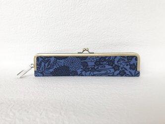 本藍 流水花文 扇子入れの画像