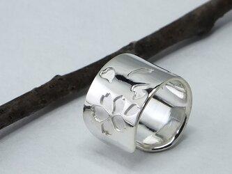 C-SakuraW9  銀桜のイヤーカフ 幅9mm <鏡面/ツヤ消し 選択可>の画像