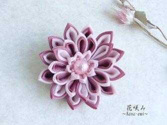 つまみ細工 桜色のブローチBの画像