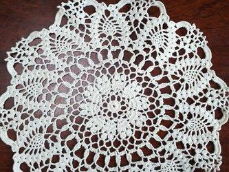 手編みレースドイリー直径約21㎝の画像