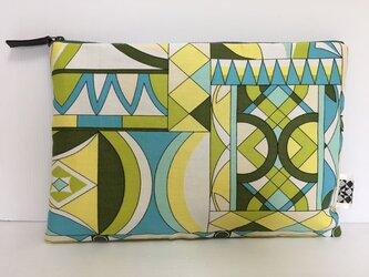 バッグインバッグ クラッチバッグ 図形デザイン2の画像