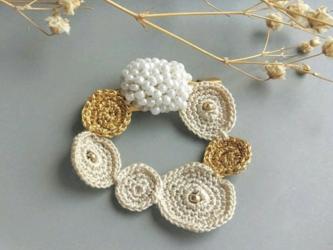 山野草のブローチ -bouquet- [ivory]の画像