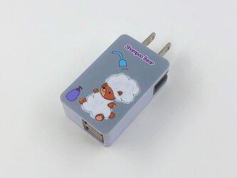 可愛いクマちゃんスマホ充電USBアダプターの画像