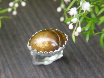 金運や仕事運を高めると言われているタイガーアイのリングの画像
