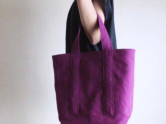 TOTE BAG (L) / purpleの画像
