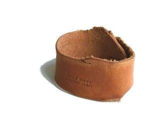 牛革タンニン ブレスレット ナチュラルベージュの画像