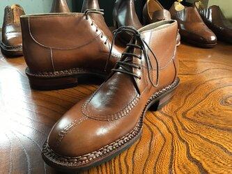 Uチップ  ブーツ  ノルベジェーゼ製法    ハンドソーンウェルトの画像