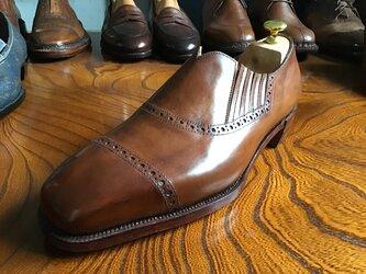 サイドエラスティック・ハンドソーンウェルト製法    革靴 レザーシューズの画像