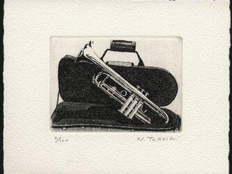トランペット / 銅版画 (作品のみ)の画像