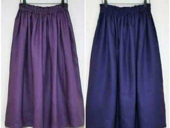 ベルギーリネン(新色グリーン追加) ロングスカートの画像